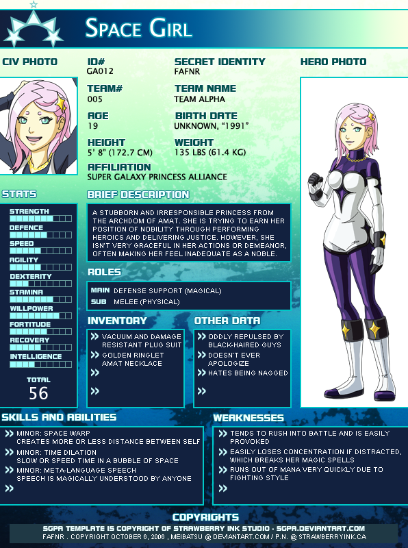 SGPA - Young Justice - Space Girl by Meibatsu