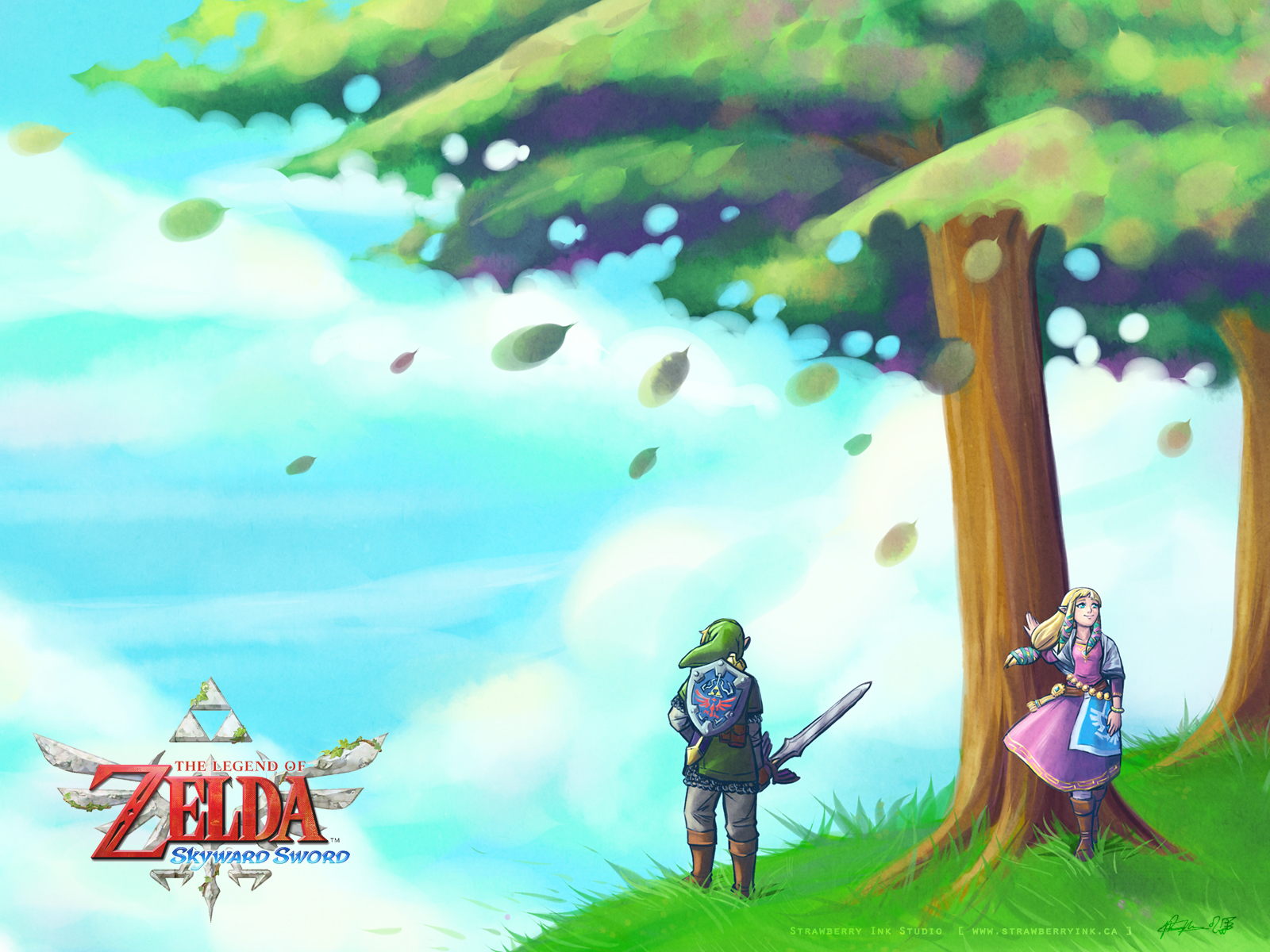 LoZ Skyward Sword wallpaper by Meibatsu