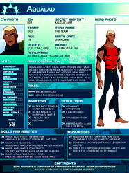 SGPA TEMPLATE with Aqualad - B02 by Meibatsu