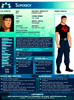 SGPA TEMPLATE with Superboy - B04 by Meibatsu