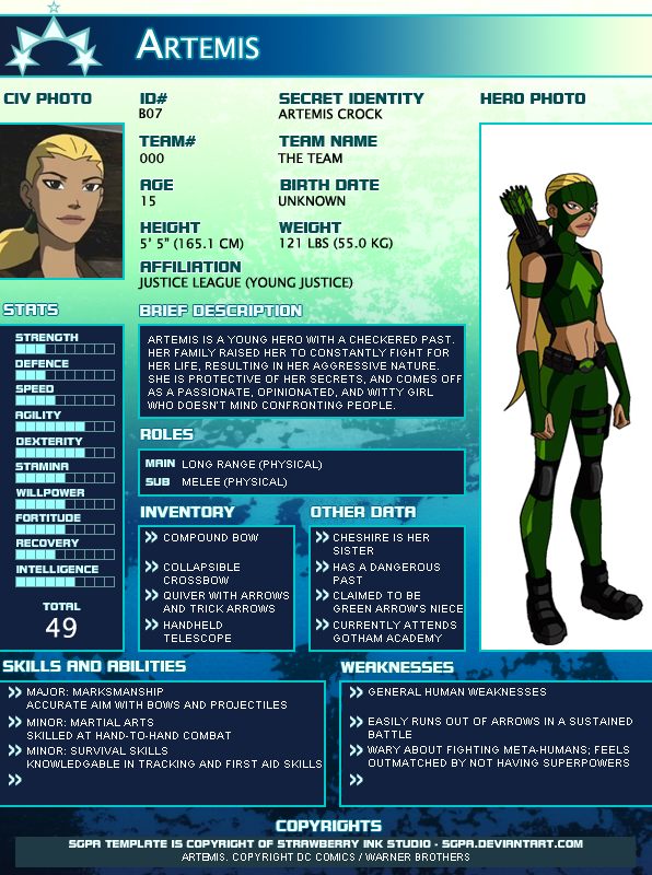 SGPA TEMPLATE with Artemis - B07 by Meibatsu on DeviantArt