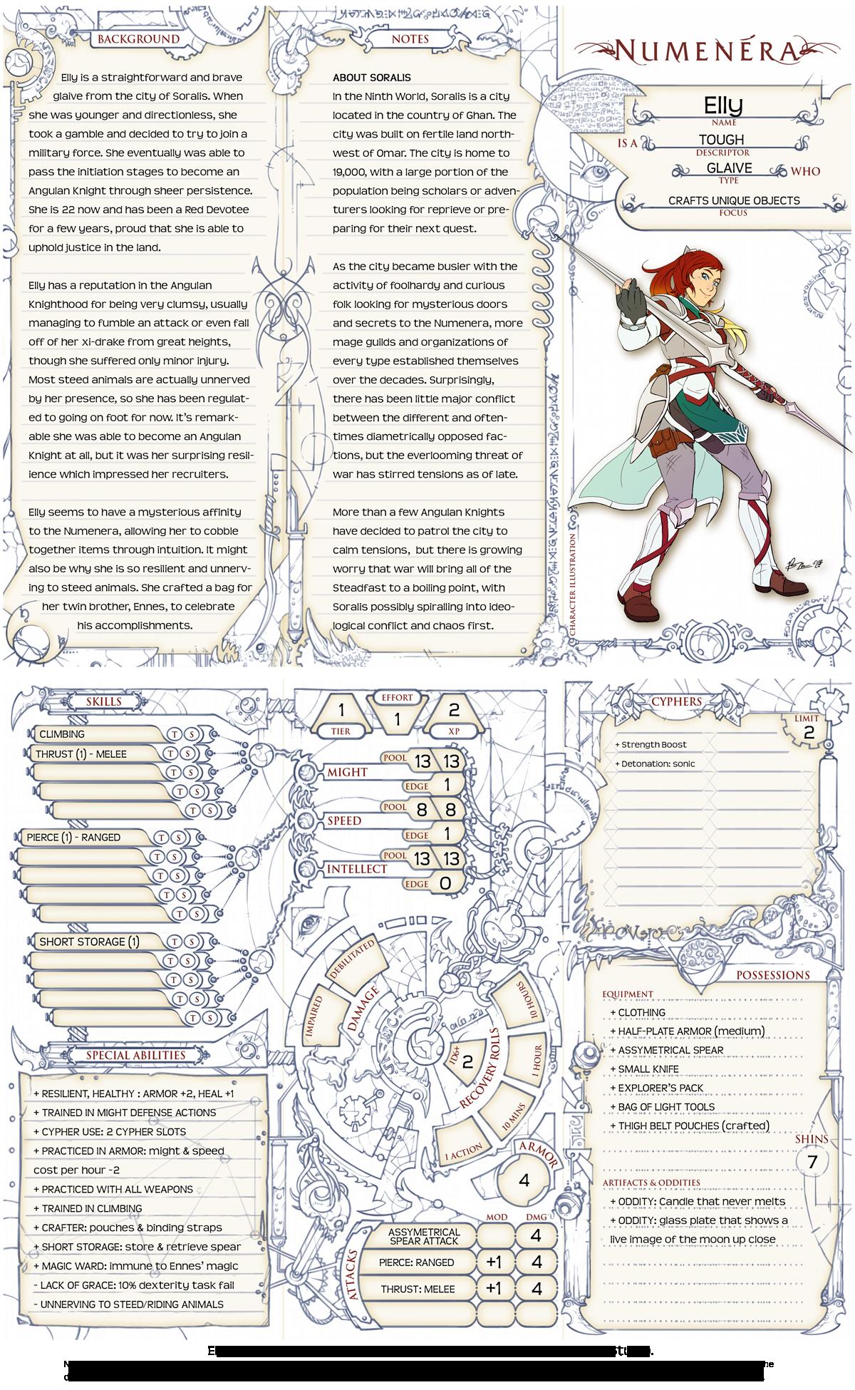 Numenera Sheet by Tensen01 on DeviantArt