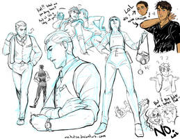 Kat and Coman sketches by Meibatsu