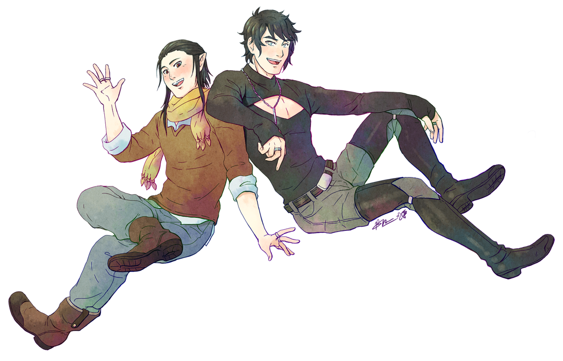 Heimdl and Zehn'l hanging for the holidays! by Meibatsu