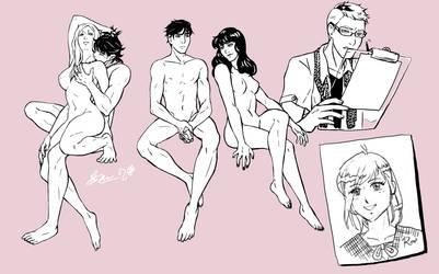Warmup Drawings! by Meibatsu