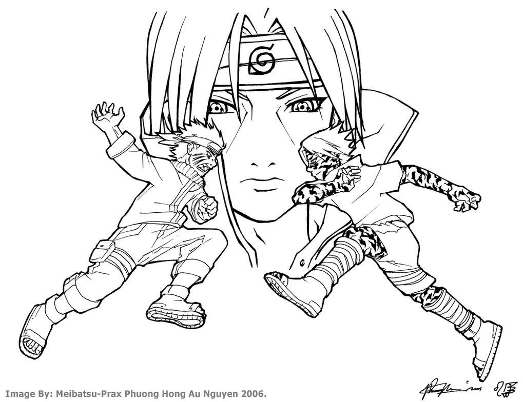 Naruto vs Sasuke w. Itachi bg by Meibatsu on DeviantArt
