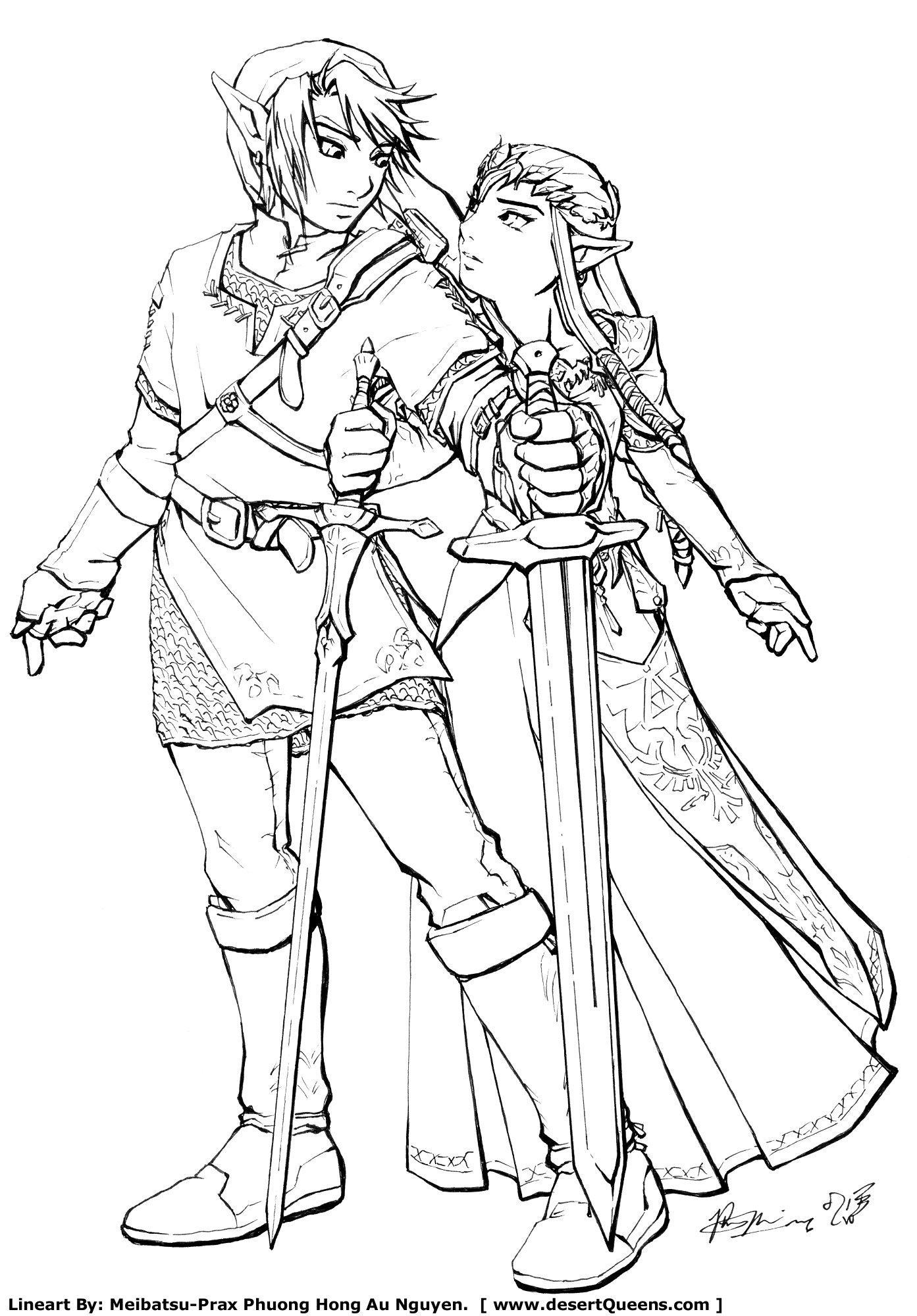 Link and Zelda by Meibatsu on DeviantArt