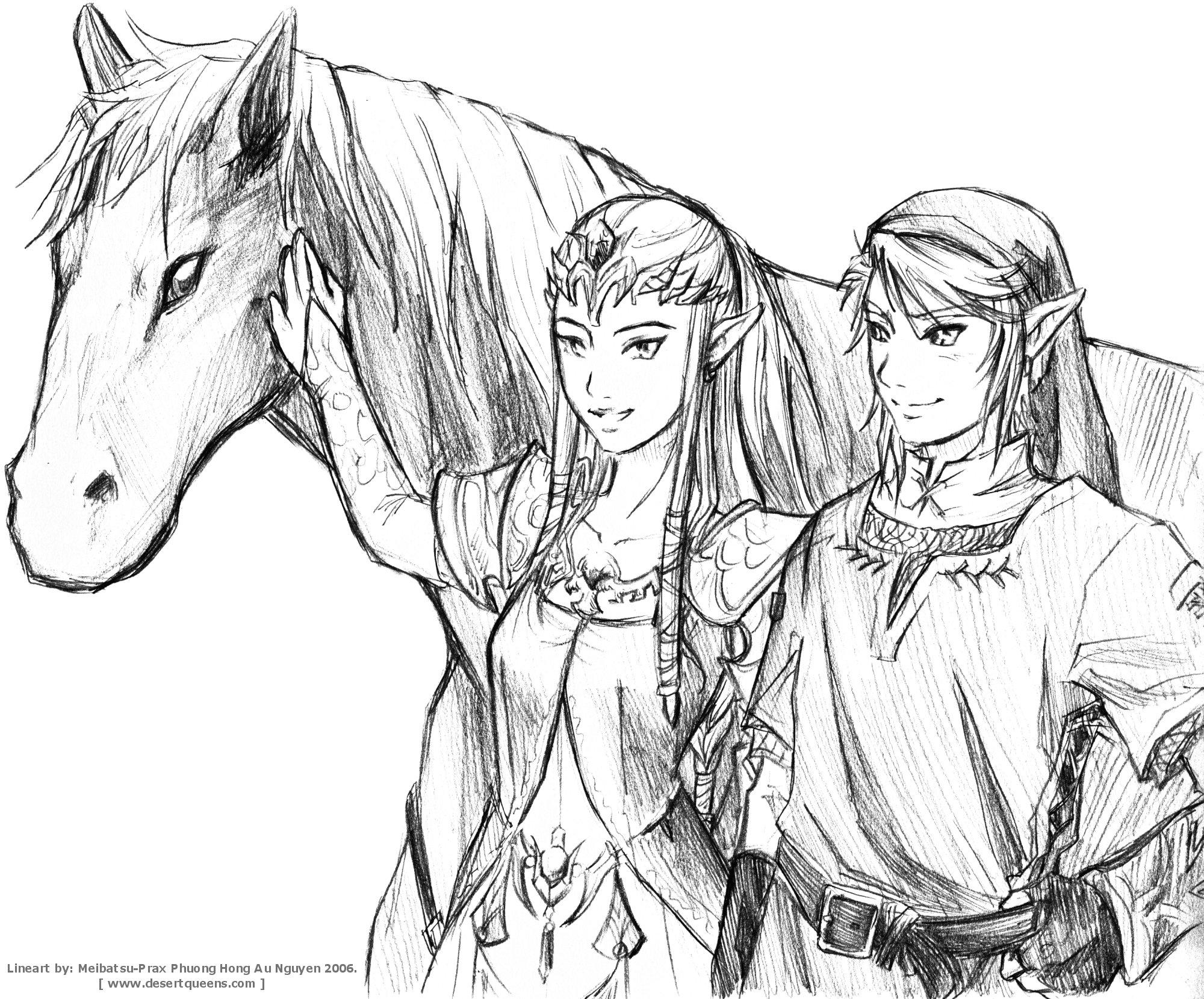 Legend Zelda Twilight Princess Link Coloring