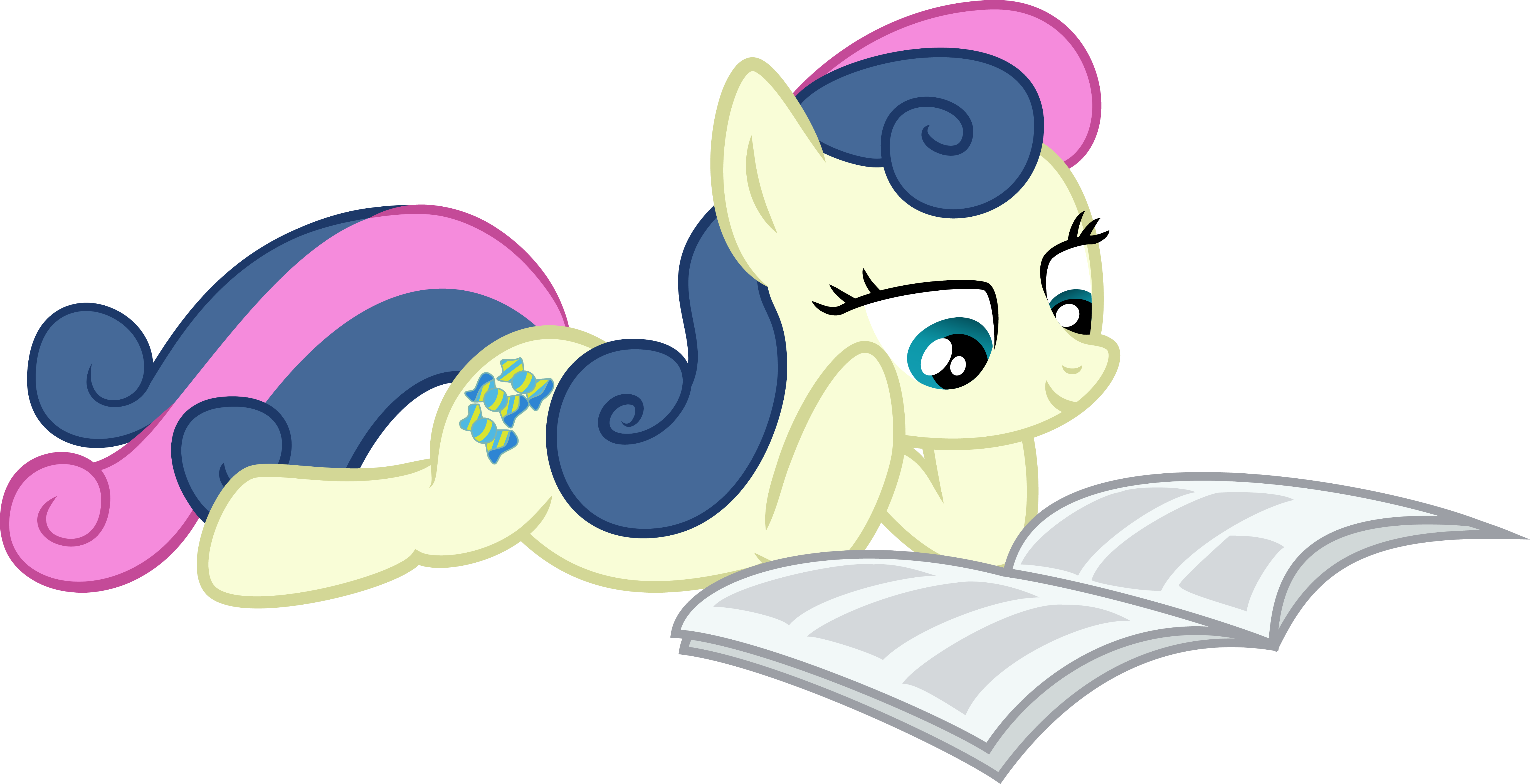 Bon-Bon reading Gabby Gums' by MuffinName