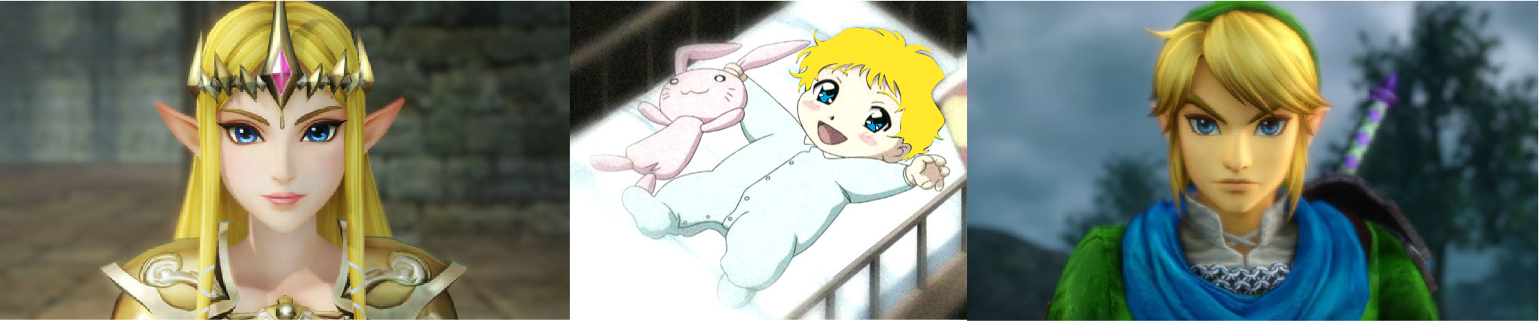 Link and zelda baby