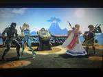 Zelda x Link and Samus x Snake (Ultimate) by alienskiller1