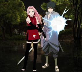 Sasuke x Sakura/Sasusaku by alienskiller1