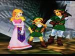 Zelda Link and their son (Melee) by alienskiller1