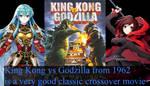 Eirika and Ruby reviewing King Kong vs Godzilla by alienskiller1