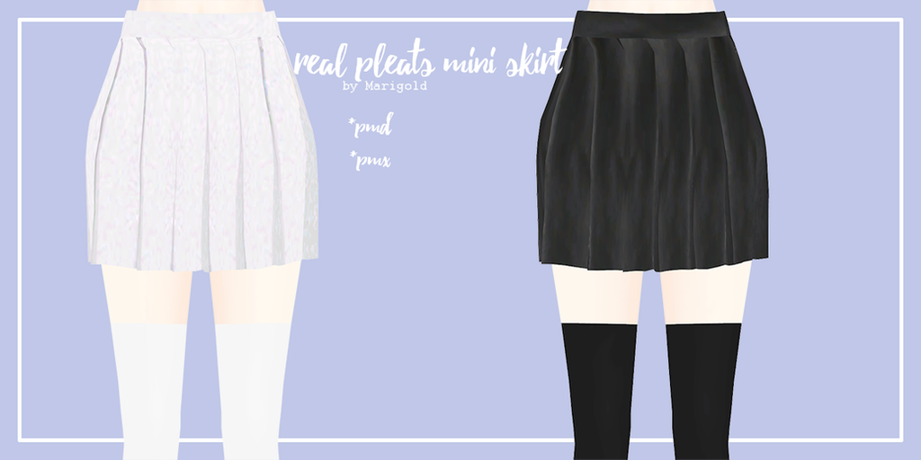 Real pleats mini skirt by Mari-Ichi
