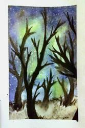 Watercolour galaxy #3 by TheWolfSohma