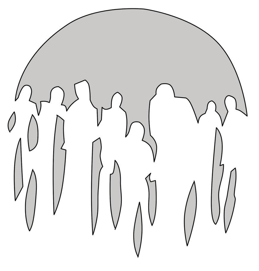 Zombie Head Stencil Zo...