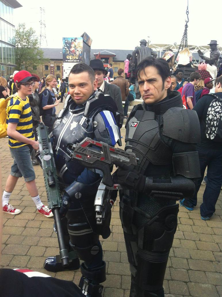 James Vega and Commander Shepard (Mark Meer) by Sweeturk