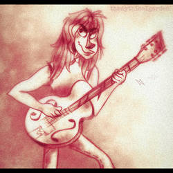 Malcolm Young by KabouterPollewop