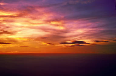 Sunset clouds by EpisOd