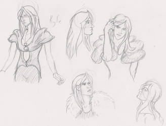 Character sketches- Kyle by RubyQuinn