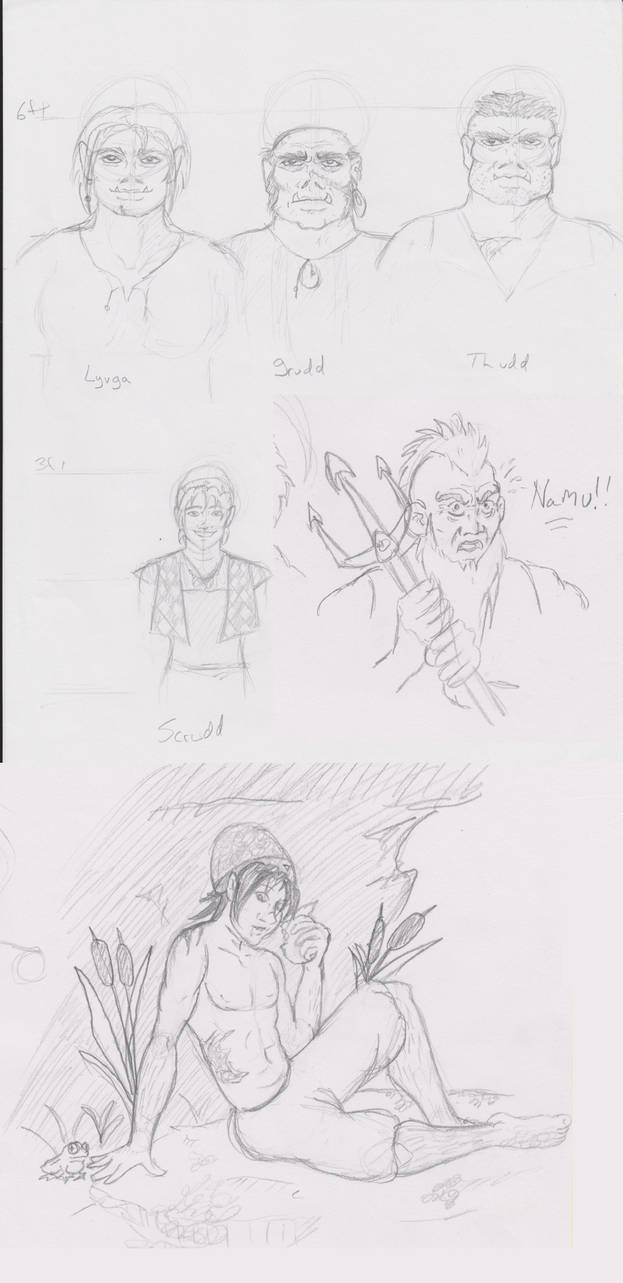 D and D character sketches
