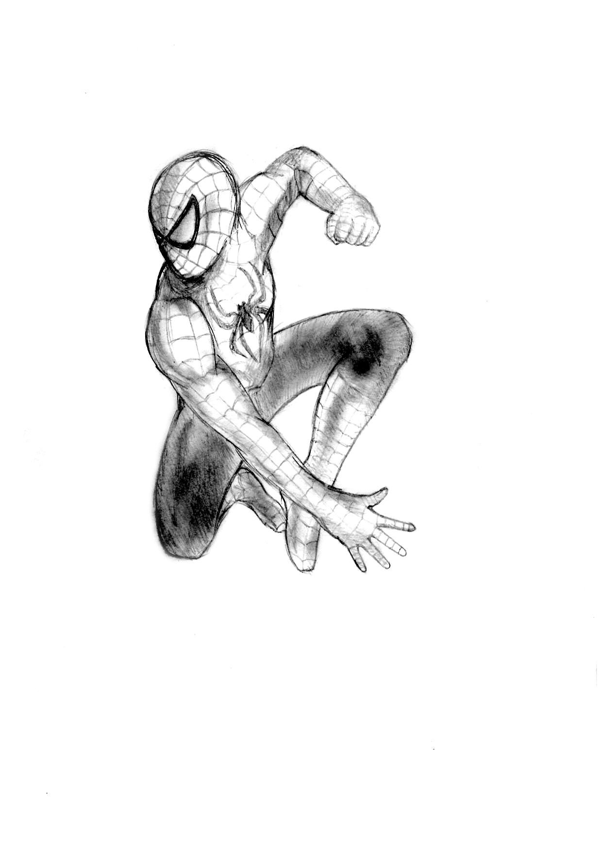 spiderman black and white by sartarnus on deviantart