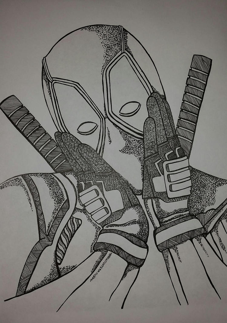 Deadpool by MathildedeGraaf