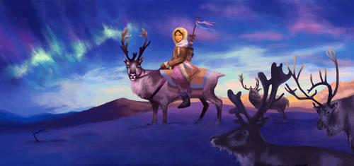 Reindeer Girl by elara-elara