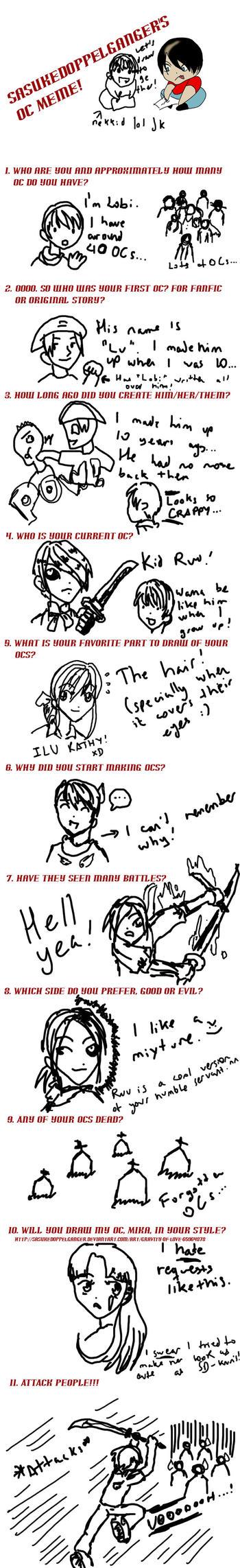 SasukeDoppelganger's OC Meme by Haohmaru77
