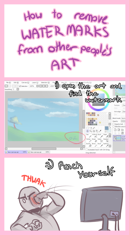 tutorial how to remove watermarks by chikuto on deviantart