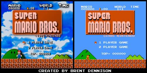 Super Mario Bros. Title Screen