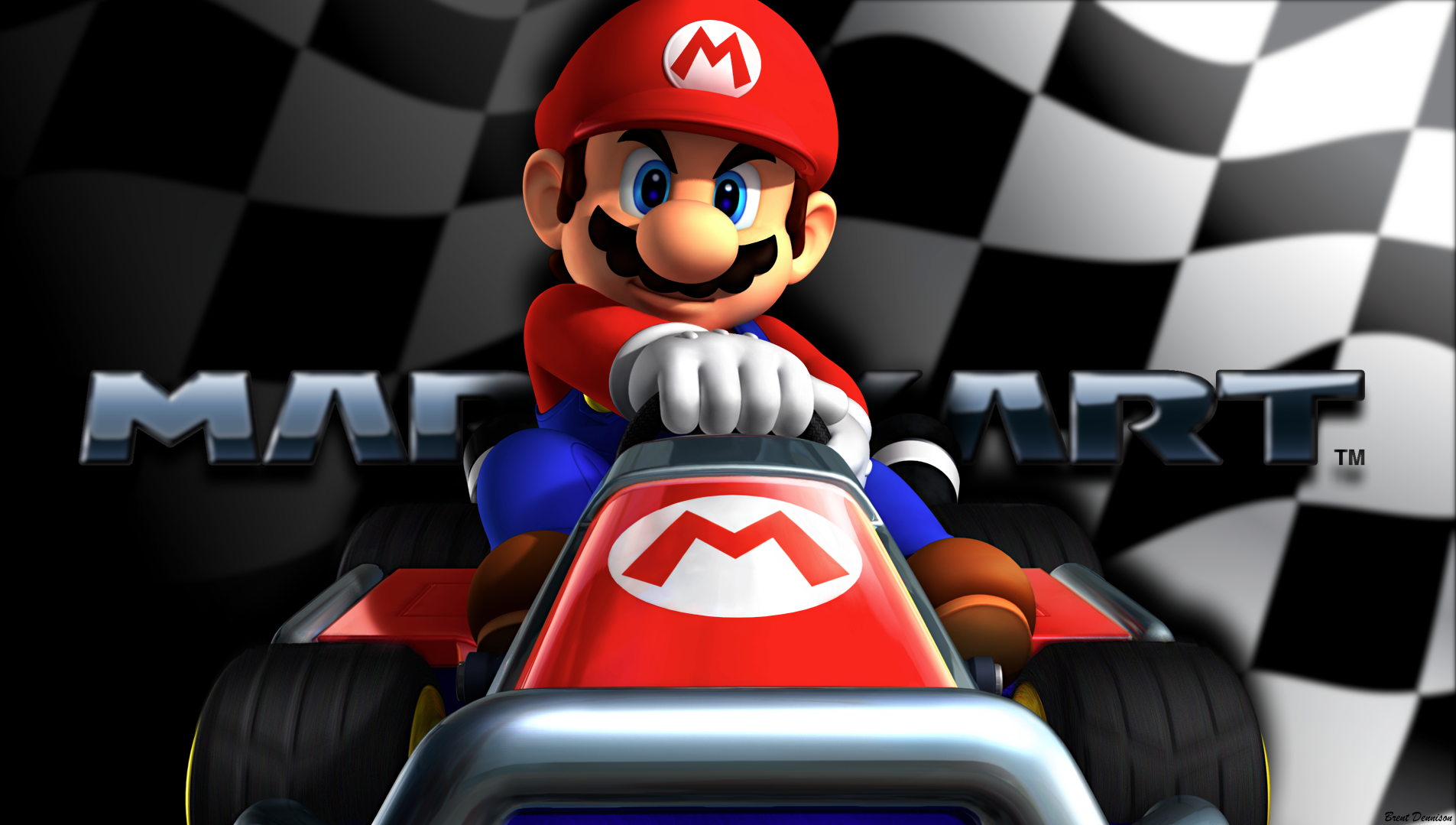 mario kart for 3ds wallpaper 2 by brentdennison on deviantart