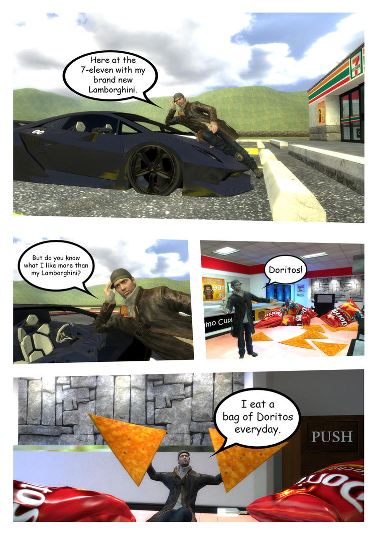 Lamborghini Comic by matfan1390