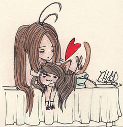 Kitty sister love by chadias
