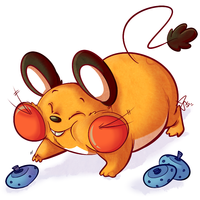 More Dedenne by WindupFruitcake