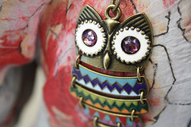 Owl Necklace by victizzle-mofo