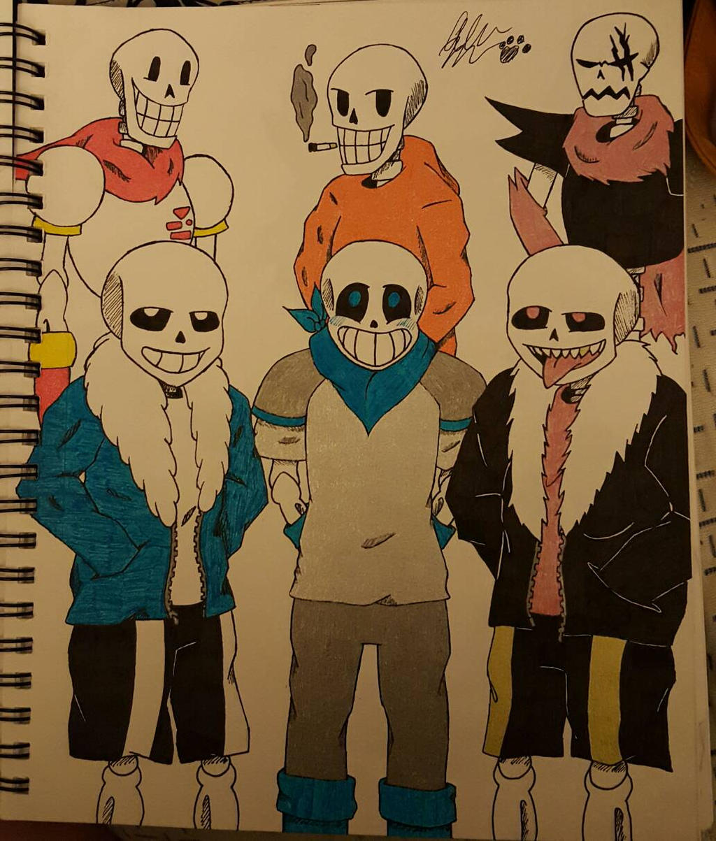 UT, US, And UF Sans's And Papyrus's By Alicesbeatinghearts