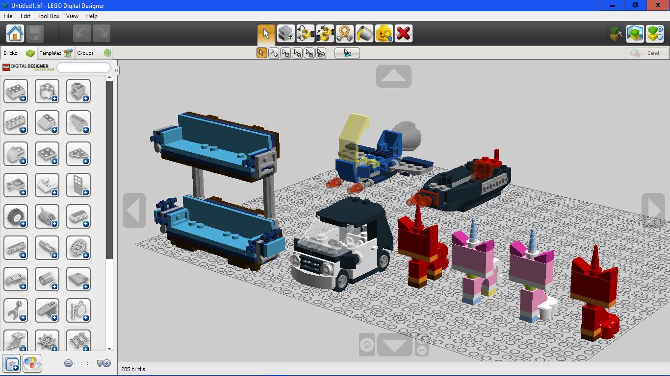 LEGO Digital Designer Unikitty by letsrock112 on DeviantArt