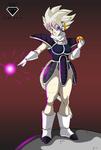 Commission 28: Cora the albino Saiyan