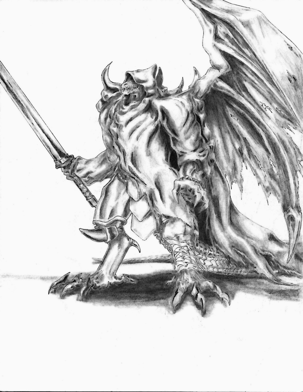 Demon Dragon knight by RtotheYO