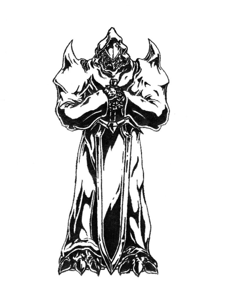 the white demon knight - photo #3
