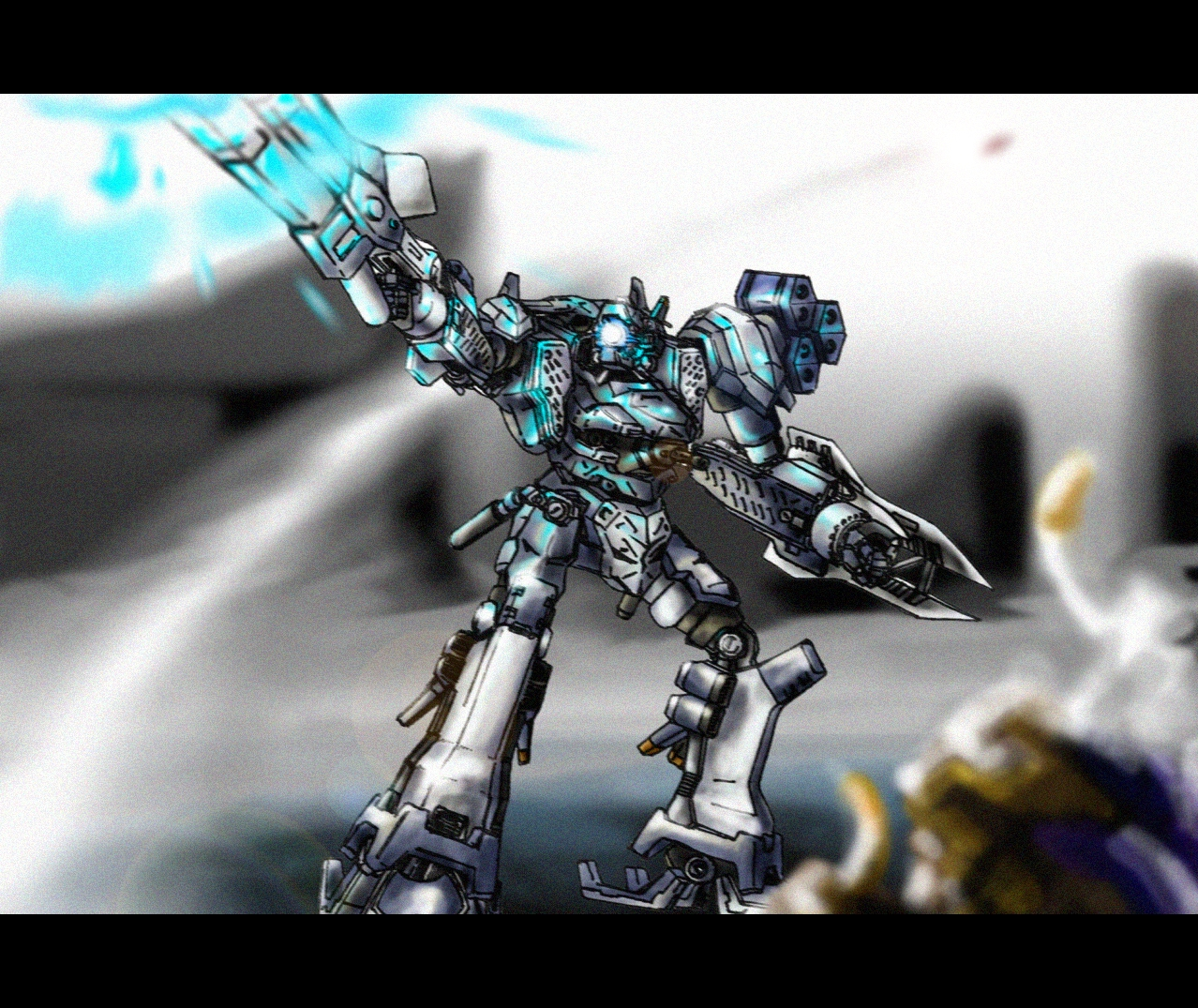 Armored core coloured by RtotheYO