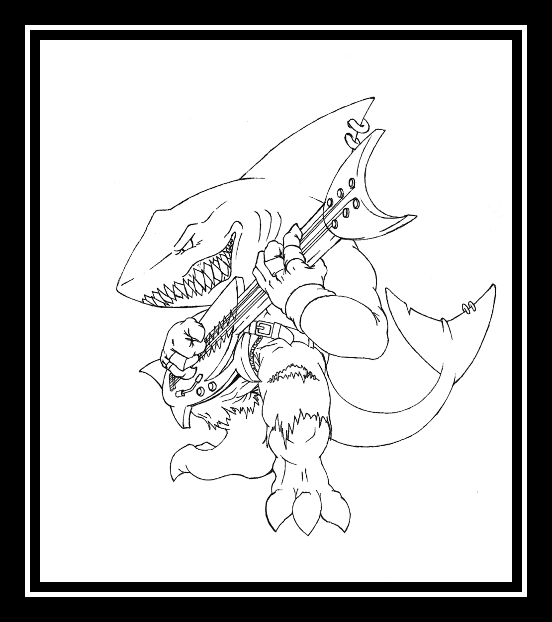 guitar hero coloring pages - photo#1