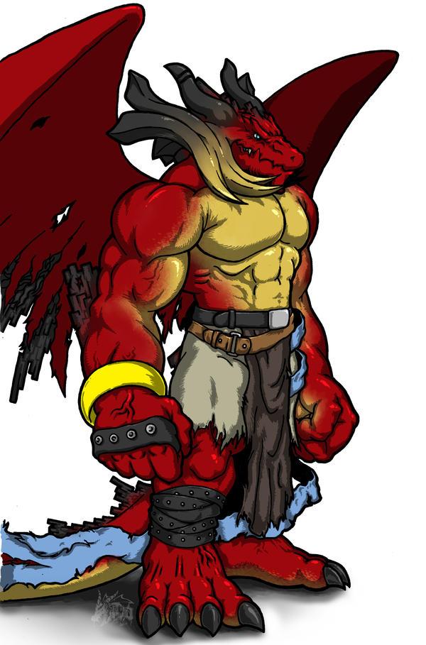 Hakairyuha (Dragones de la destrucción) Big_red_by_rtotheyo-d3g9no3