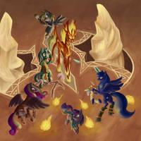 Gamer Luna vs. Diablo by 0Riane0
