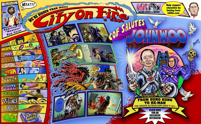 City on Fire.com frontpage art by Danomight