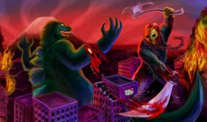 Godzilla VS Jason