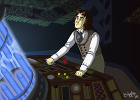 Eight in the TARDIS by cardinalbiggles