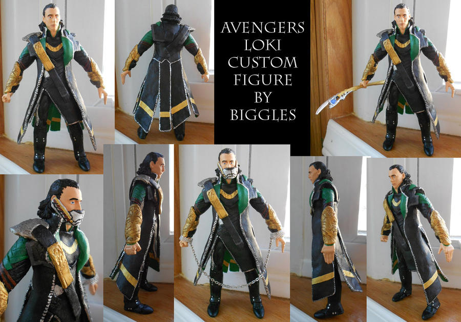 Custom Avengers Loki Figure by cardinalbiggles